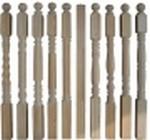 Столб заходной из лиственницы 80x80мм (сорт А)